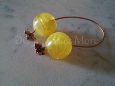 Begleri Greek mini komboloi yellow smoky 20mm acrylic bead bronze spacer beads