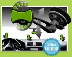 GripGo Hands Free Phone Mount  ~~Grips onto windshield or dash, holds any type of phone.