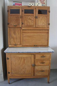 Vintage Hoosier Cabinet by thefurniturefinder on Etsy, $425.00