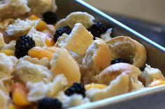 Blackberry Peach Bread Pudding