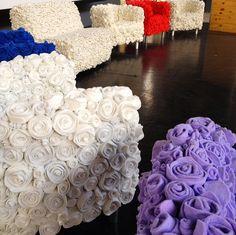 Flower felt furniture