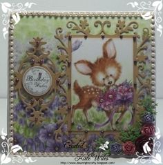 A gorgeous Wild Rose Studio Birthday card with those new releases  Image - A Bluebell Panel Papers - Bluebell Paper Pack Sentiment - Birthday Greetings Dies - Floral Frame, Oval Frame