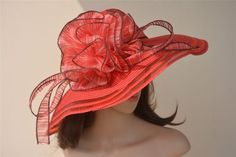 """Seawing's words to you,""""I love this hat! Brim: 5 in Wear a hat and be treated like the lady you are! Bask in all of your brilliance in this floppy Ladies hat! Race Day Hats, Wearing A Hat, Church Wedding, Kentucky Derby, Summer Beach, Hats For Women, Dresses, Vestidos, Dress"""