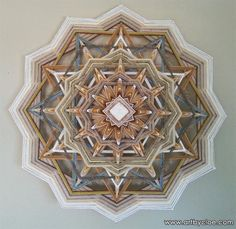 Mandala Wall Art for sale, created by Cloe Collette, fiber artist living on Mallorca. Inspired by nature and spirit! Mandala Yarn, Mandala Pattern, God's Eye Craft, Huichol Art, Cabin Crafts, Stick Art, Gods Eye, Thread Art, Threading