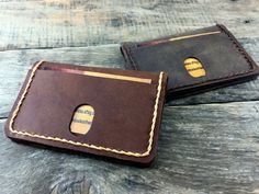 minimalist  leather wallet Mens Leather Wallet by NiceLeather1