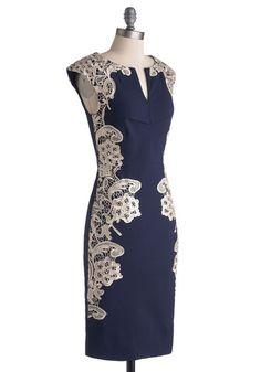 Lakeside Libations Dress in Navy   Mod Retro Vintage Dresses   ModCloth.com