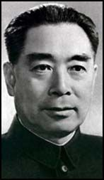 Zhou Enlai (Chou En-lai), the son of wealthy parents, was born in Jiangsu, China, in 1898. He was educated in a missionary college in Tianjin before studying at a university in Japan. He moved to France in 1920 where he helped to form the overseas branch of the Chinese Communist Party. He also lived in Britain and Germany before returning to China in 1924. As members of the Communist Party Mao Zedong, Zhu De and Zhou Enlai survived the 1925 purge by Chang Kai-Shek and established Jiangxi…