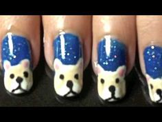 Snowy bear nail art tutorial.... :-)