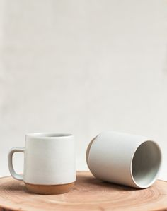 hand turned small mugs in cloud