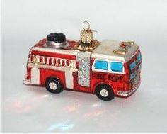 Fire Truck - Personalized Family Christmas Ornament