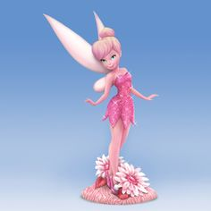 "Always true to herself, Disney's most popular, sassiest and most adorable pint-sized pixie, Tinker Bell, never holds back her true colours. And now, she's showing off a whole new shade! So pretty in pink from the tip of her fairy wings to the top of her signature shoe pom-poms, Hamilton's exclusive ""Tink Pink"" figurine is hand-sculpted and painted by hand in bright, cheery hues as dazzling as the glittery garden bloom she poses upon."