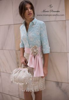 Pink and blue spring Vestidos Marisa, Cute Dresses, Beautiful Dresses, Boyfriend Girlfriend Shirts, One Direction Shirts, Cut Up Shirts, Matching Couple Shirts, Party Shirts, The Dress