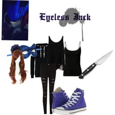 CreepyPasta Eyeless Jack Cosplay by ceciliashy on Polyvore featuring STELLA McCARTNEY, ONLY, Masquerade and Converse