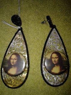 earrings in resin with brooch by crizartshop on Etsy