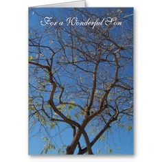 #Tree #Son #Birthday Greeting #Card