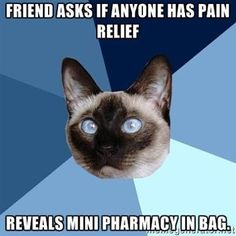 Purses, or as chronic illness patients call them, portable pharmacies!