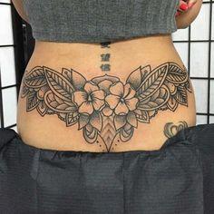 43 Mejores Imagenes De Tatuajes Para Mujer En La Espalda Baja