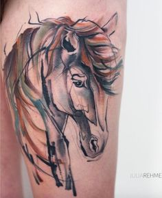 Tattoo Watercolor Horse Artists 68 Ideas For 2019 Arrow Tattoos, Feather Tattoos, Nature Tattoos, Dog Tattoos, Animal Tattoos, Girl Tattoos, Trendy Tattoos, Unique Tattoos, Small Tattoos