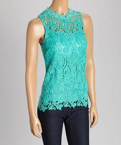 Look at this #zulilyfind! Jade Floral Crochet Sleeveless Top #zulilyfinds