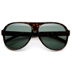 Classic Tear Drop Glass Lens Plastic Aviator Sunglasses