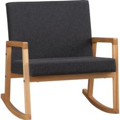 cb2 wool rocker