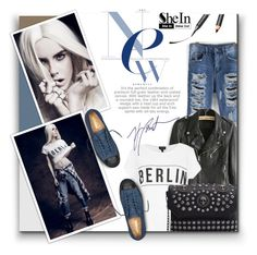 """""""Shein 6"""" by barbarela11 ❤ liked on Polyvore featuring Chantecaille, Topshop, Converse and Burton"""