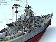 German Battleship Bismarck 3D #5D