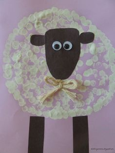Sheep Craft - use for Valentine's Day or Chinese New Year (Year of the Sheep)
