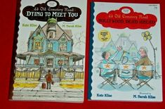 2 Dying to Meet You Cemetery Road Chapter Books Kate Klise 4th 5th Grade