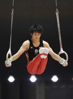 Ryohei Kato on rings at the 67th All Japan Gymnastics Championships.