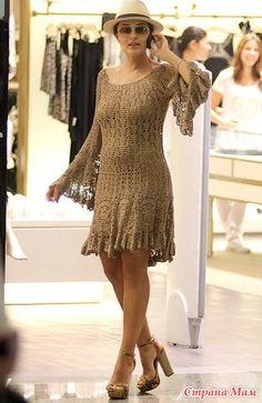 Платье от Джованны Диас (Giovana Dias) - Вяжем вместе он-лайн - Страна Мам