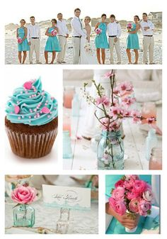 PINK & AQUA WEDDING INSPIRATION