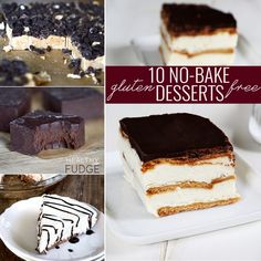 No Bake Gluten Free Desserts—10 recipes, no oven required!