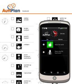 AutiPlan Maak een dagplanning met pictogrammen voor mensen met Autisme, Asperger, PDDNOS en ADHD