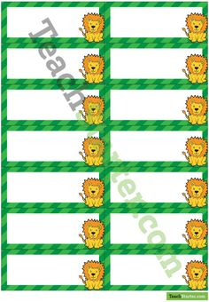 Teaching Resource: Pastel flags themed desk name tags for your students' desks. Classroom Name Tags, Classroom Bulletin Boards, Desk Name Tags, Cute Lion, Page Borders, Name Labels, Aesop, Teaching Resources, Lions