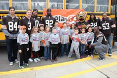 The Cleveland Browns spent Tuesday morning interacting with the children at Big Creek Elementary School, which was selected as Cleveland's Play 60 Super School.