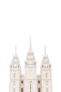 Salt Lake City Utah Temple White