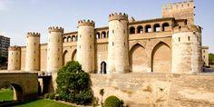 Palacio de la Alfajería, sede de la Inquisición en el siglo XV. Zaragoza. España.