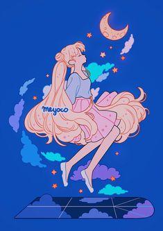Sailor Moon Outfit, Sailor Moon Art, Kawaii Drawings, Cute Drawings, Aesthetic Anime, Aesthetic Art, Pretty Art, Cute Art, Cartoon Art