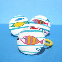 Adorable fish ponytail holder from Etsy seller SassyBelleButtons, perfect for the beach! #dteam