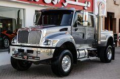 International MXT, located in Dubai United Arab Emirates Custom Lifted Trucks, Customised Trucks, Dually Trucks, Big Rig Trucks, Mini Trucks, New Trucks, Diesel Trucks, Cool Trucks, Chevy Trucks