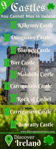 9 Castles You Cannot Miss in Ireland! It goes without saying that no matter how you shake it, your trip to Ireland will involve some castle stops. Lucky for you, Ireland is chalk full of them and you will not struggle to come across one around every corne Scotland Travel, Ireland Travel, Galway Ireland, Cork Ireland, Traveling To Ireland, Belfast Ireland, Travelling, Scotland Trip, Oh The Places You'll Go