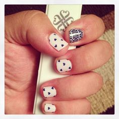 """""""Puppy Love"""" with an accent nail. I  Jamberry!   Find your perfect wrap at http://ldbelly.jamberrynails.net/shop"""
