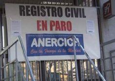 Registro Civil: Se cumplen tres semanas de paro