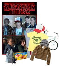 """Stranger Things"" by retrorose ❤ liked on Polyvore featuring Topshop, WithChic, Hollister Co. and StrangerThings"