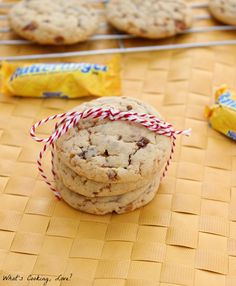 Butterfinger Cheesecake Pudding Cookies - Whats Cooking Love?