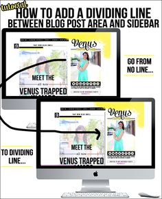 How to Add a Dividing Line Between Blog and Sidebar in Blogger