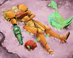 """This past weekend was the anniversary of Nintendo's """"Metroid"""" series of video games, one of my favorites. Death of the Bounty Hunter Metroid Samus, Samus Aran, Metroid Prime, Video Game Music, Video Games, Zero Suit Samus, Super Metroid, Hack And Slash, The Tesseract"""
