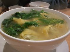 PF Changs Wonton Soup Recipe-- pork wontons, mushrooms, fresh spinach, water chestnuts, chicken and shrimp in our savory chicken broth.