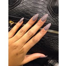 ~gray almond nails Wanna see more? Pinterest: Theylovecyn_